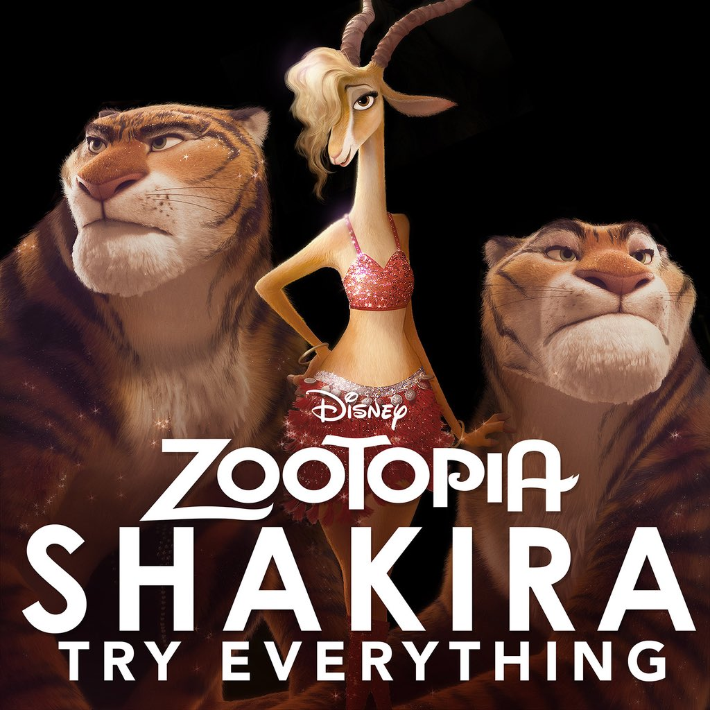 Shak's new single, Try Everything, from the upcoming #Zootopia movie! ShakHQ